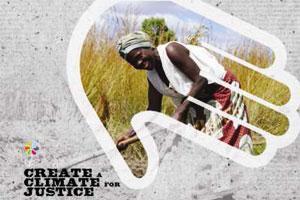 Uno de los logos de la campaña de justicia climática. (foto tomada de caritas.org)