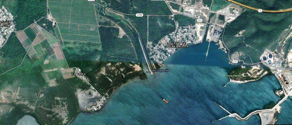 Imagen satelital donde se localizan ambas comunidades.