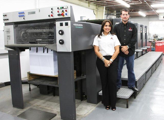 Maribel Nevado y Eduardo Herrero, presidente y vicepresidenta, respectivamente, de Herrero Graphic Printing.