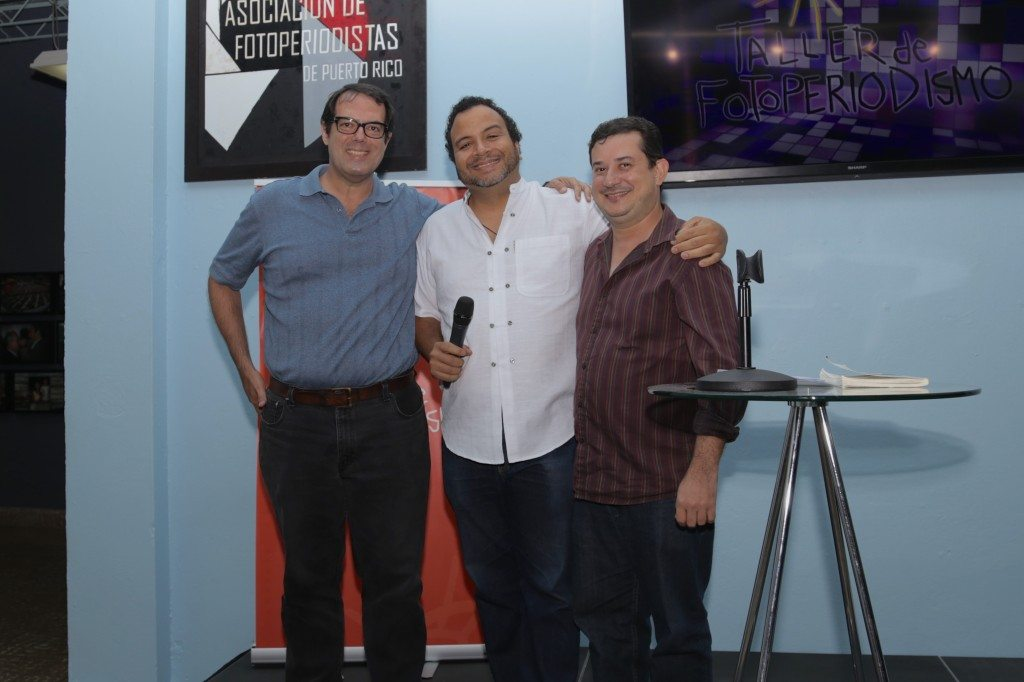 Raices - Misael junto a sus dos colaboradores principales Angel Janer y Emmanuel Vargas