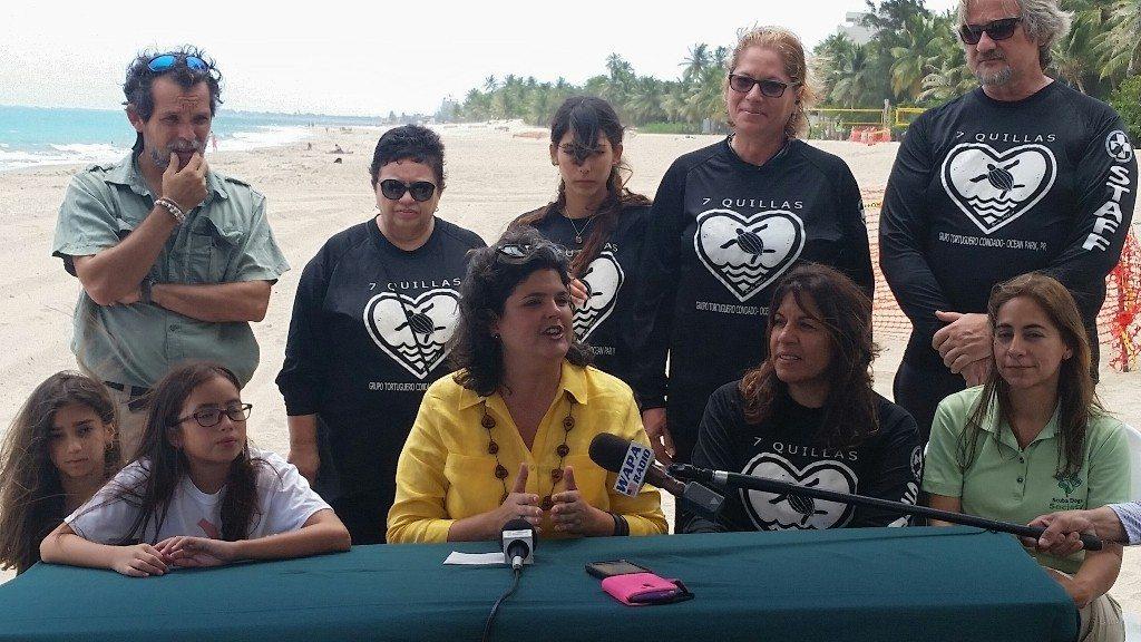Participantes de la conferencia de prensa. (fotos suministradas por el DRNA)