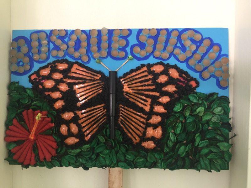 Arte trabajado por los estudiantes.